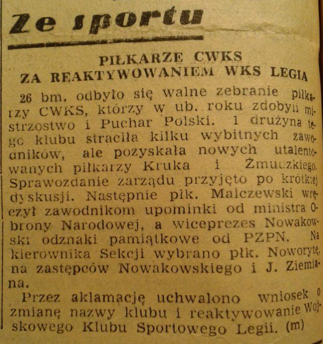 Notatka prasowa z Życia Warszawy ze stycznia 1957