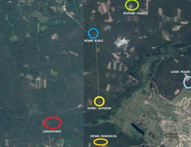Rozlokowanie obozów legionowych przy linii frontu w 1916 r. w okolicy Wołczecka.