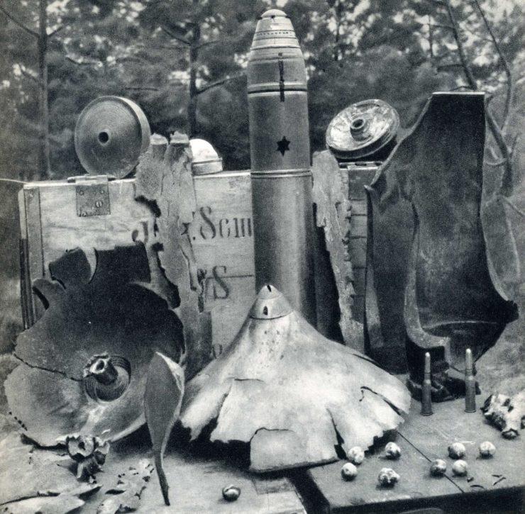 Różne rodzaje pocisków rosyjskich jakie spadały na polskie pozycje podczas lipcowej ofensywy