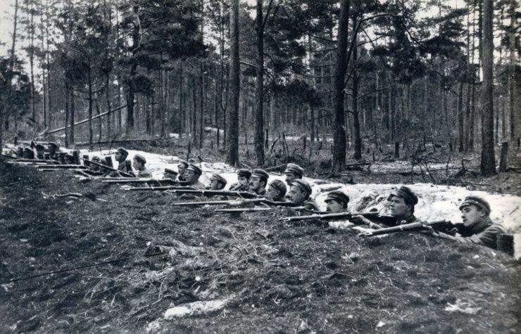 Legioniści przygotowani na atak Rosjan